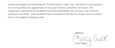 auto repair review maryland